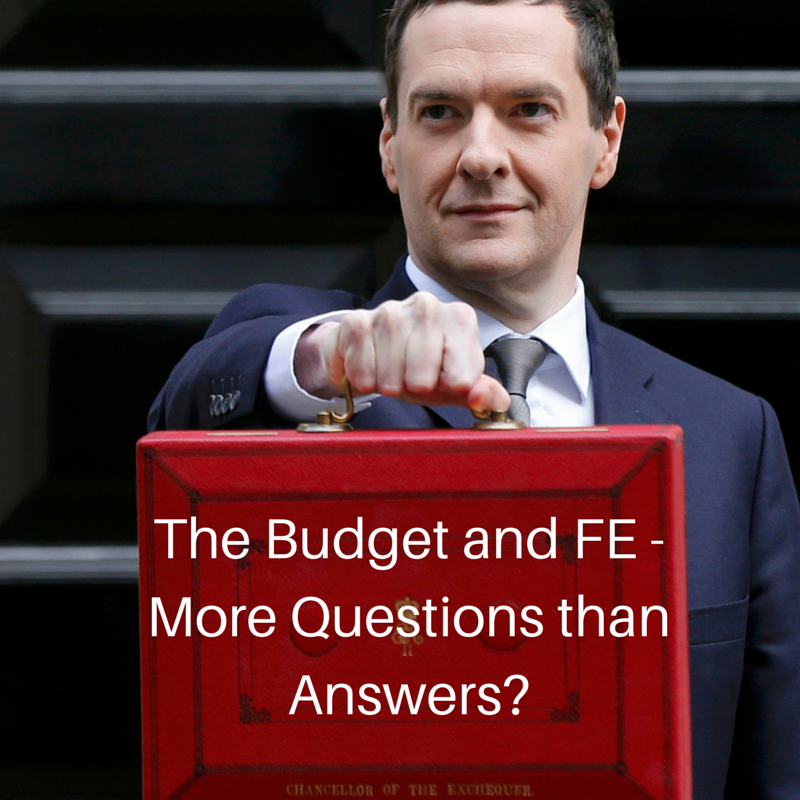 The Budget and FE