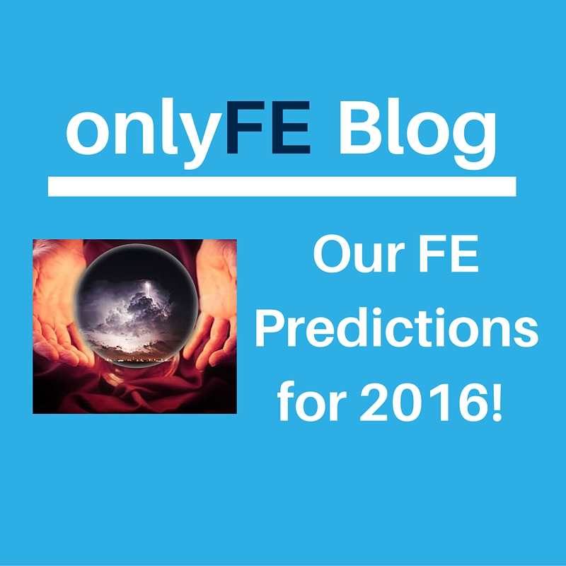 Predictions for Further Education in 2016