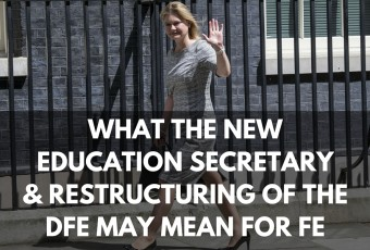 new education secretary justing greening and dfe reshuffle