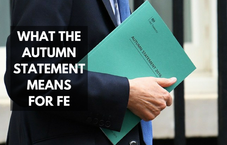 2016 Autumn Statement and FE