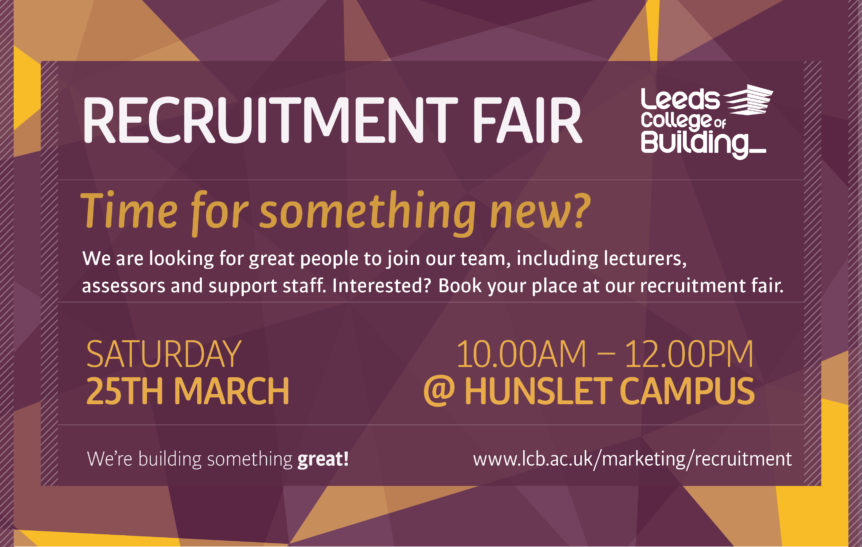 Leeds College of Building Recruitment Fair